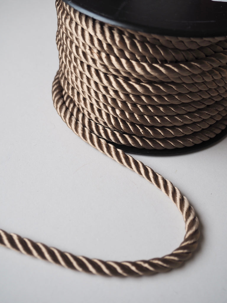 Gold Satin Twisted Cord 8mm