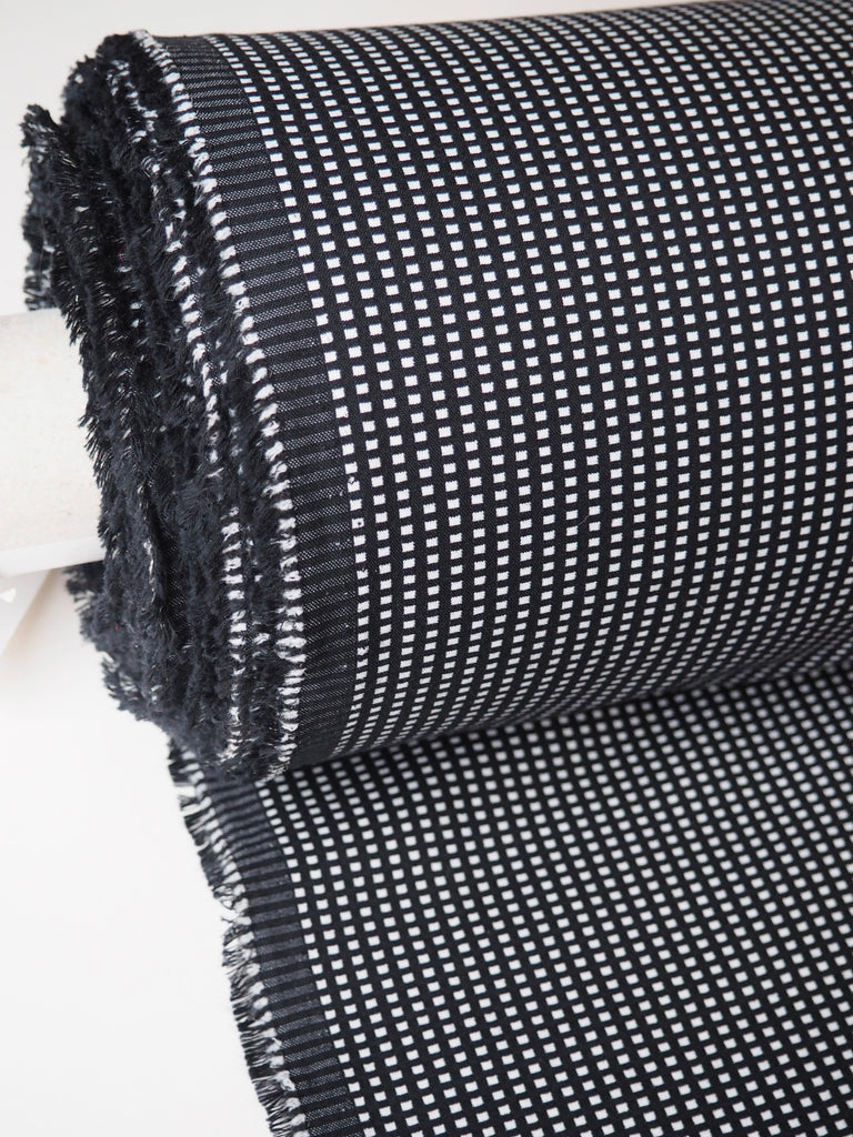 Chess Cotton Viscose Stretch Jacquard