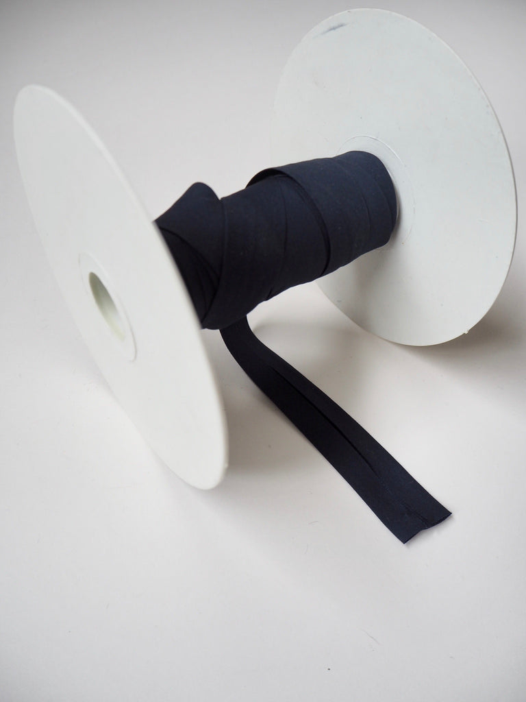 Navy Cotton Poplin Bias Binding 20mm