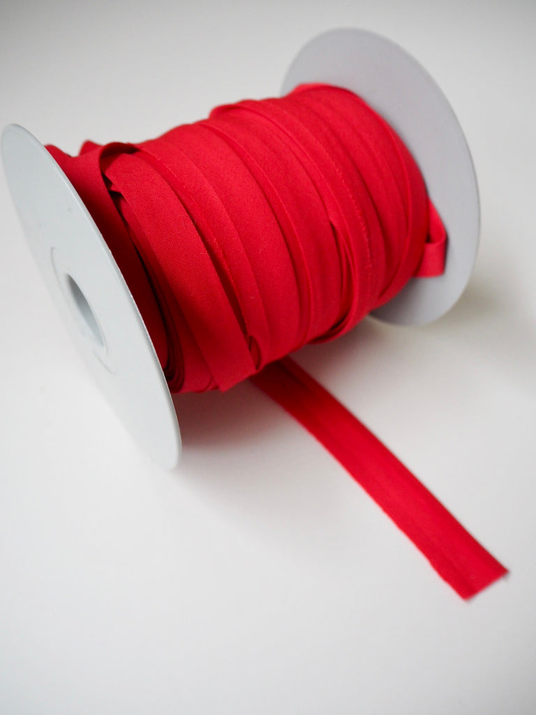 Red Polycotton Bias Binding 12mm