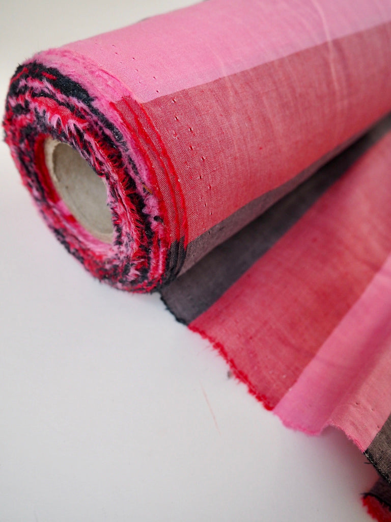 Toulouse Red Pink Stripe Linen Cotton