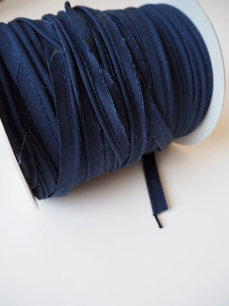 Navy Polycotton Bias Piping