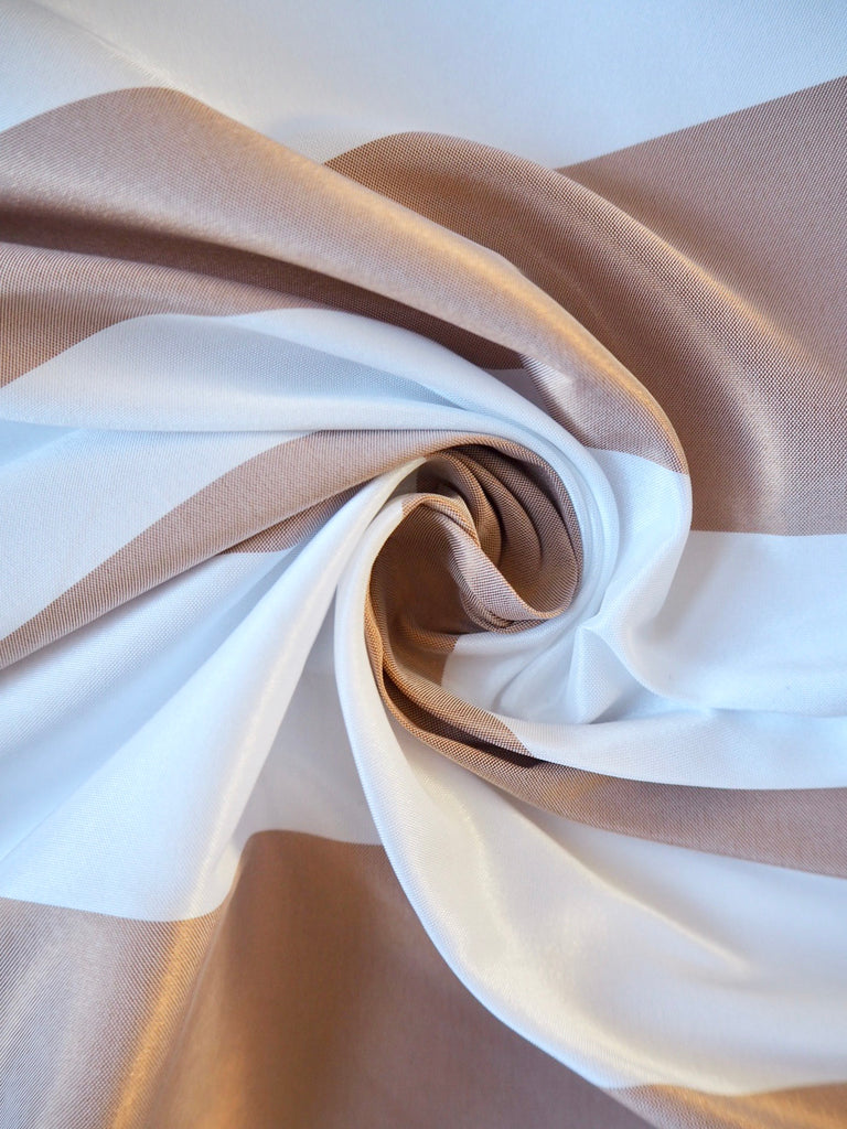Coffee Stripe Taffeta