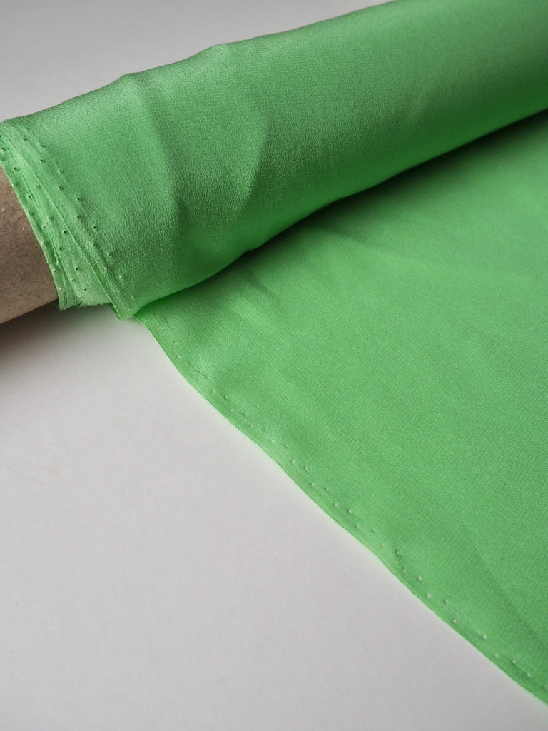 Green Lily Sandwashed Silk