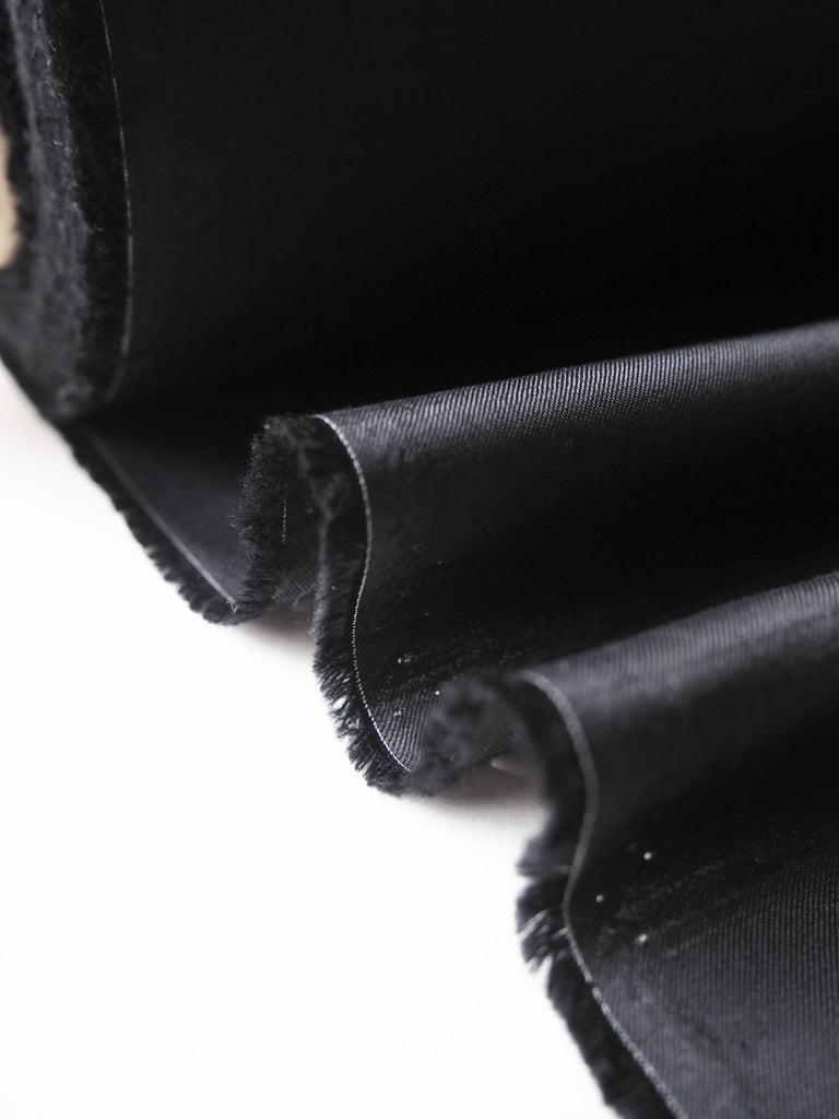 Black Viscose Twill Lining
