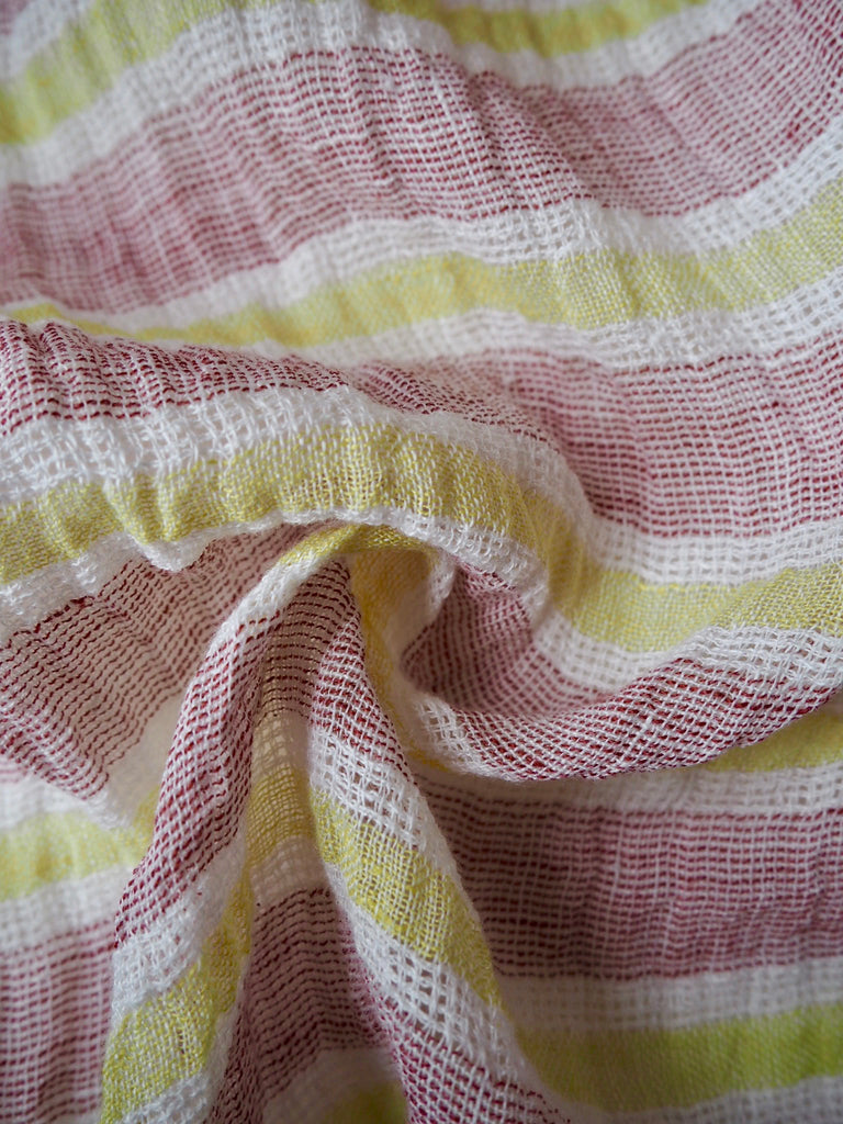Calabria Zesty Stripe Cheesecloth Linen