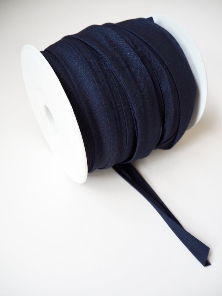 Navy Polycotton Bias Binding 20mm