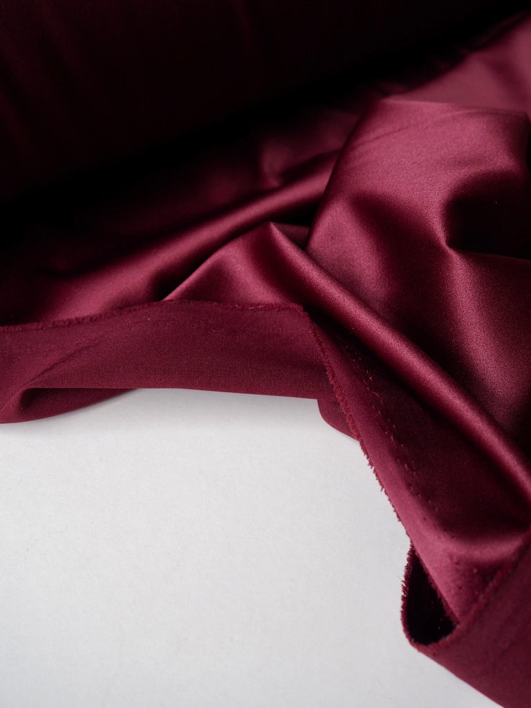 Burgundy Stretch Satin