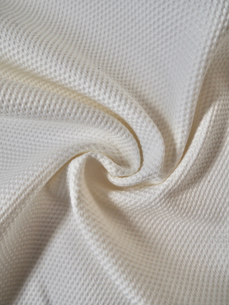 White Piqué Cotton Canvas