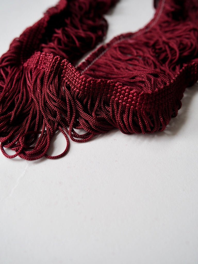 Burgundy Fringing Tassel Trim