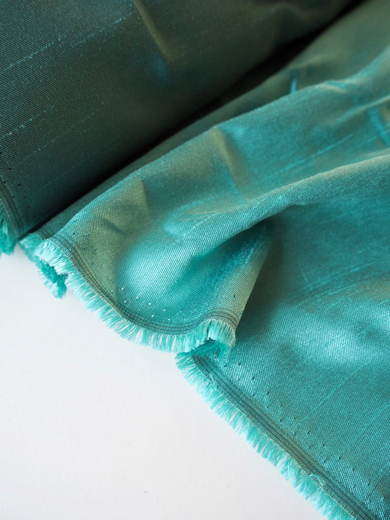 Jade Green Raw Taffeta