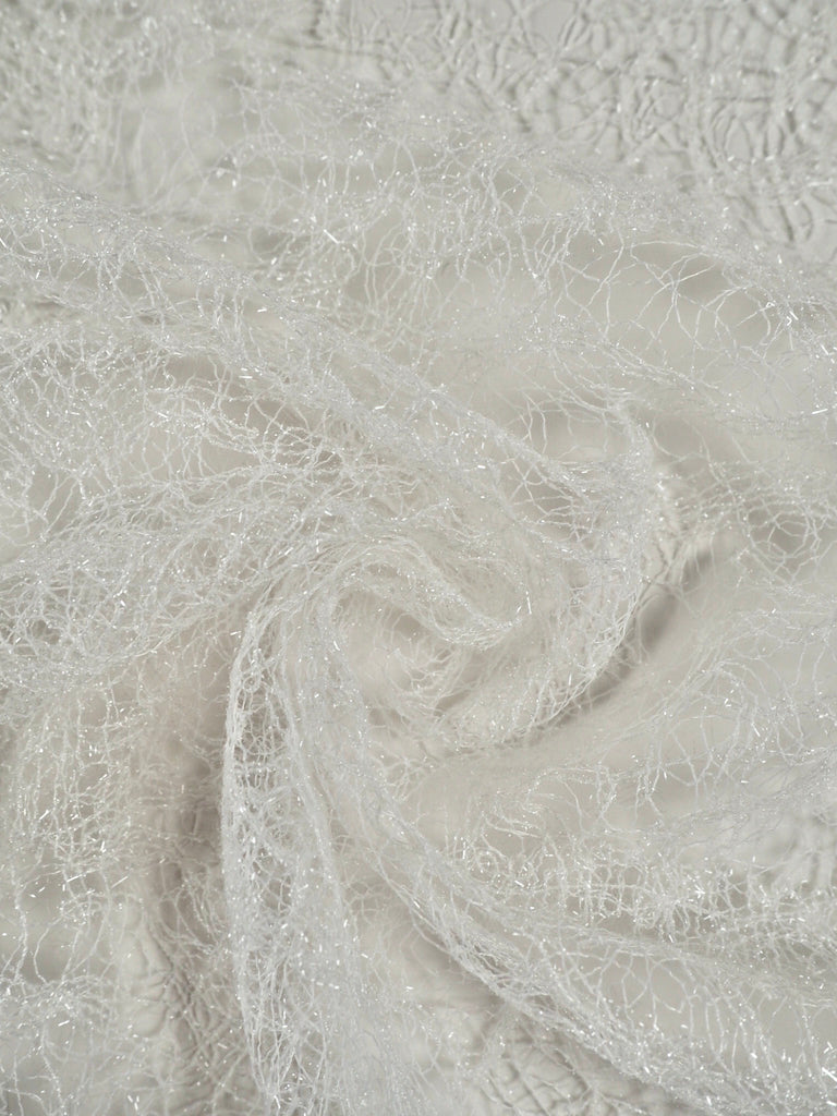 Aurora White Sparkle Lace