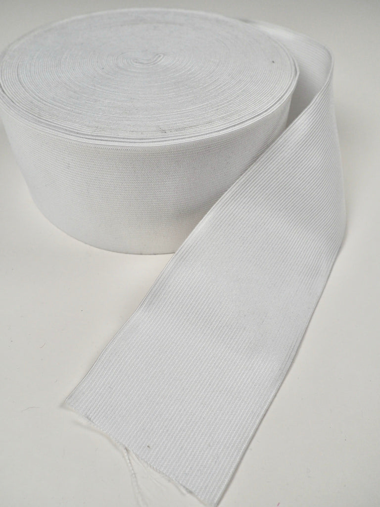 Extra Wide White Strong Elastic 120mm