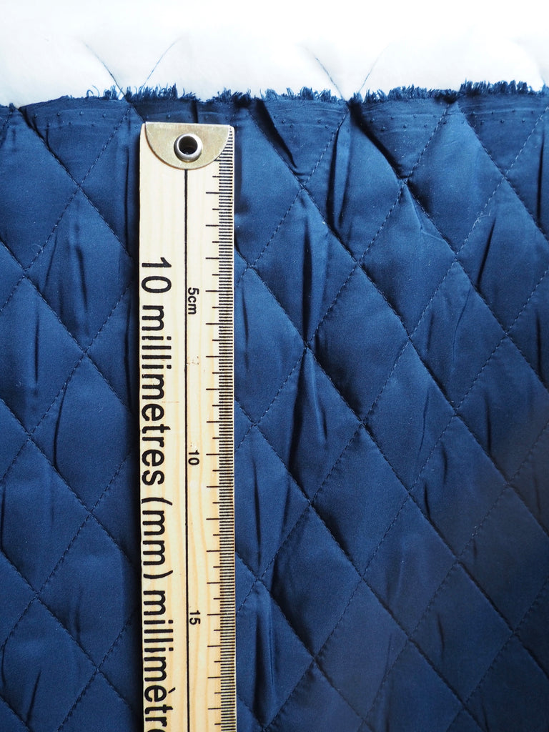 Navy Quilted Coating