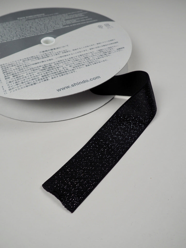 Black Sparkle Shindo Elastic 40mm