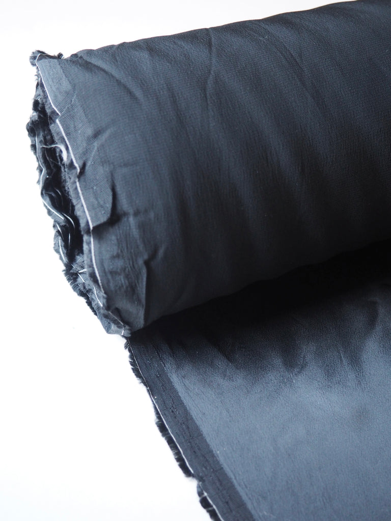 Heavy Black Satin Viscose