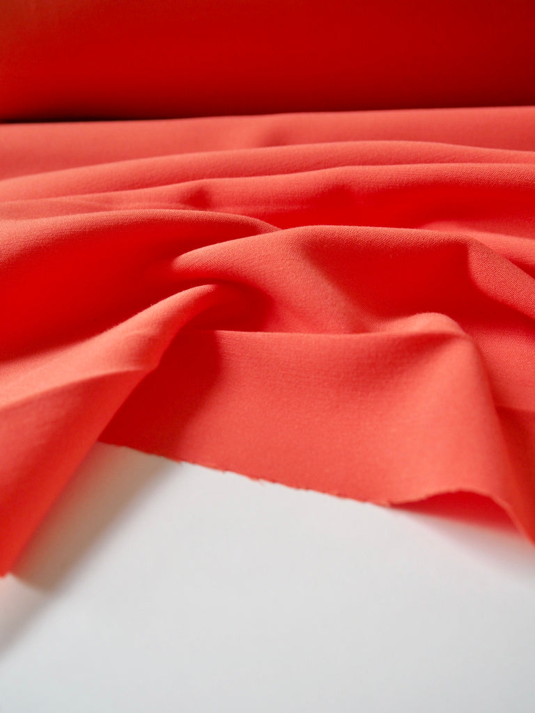Coral Stretch Crepe