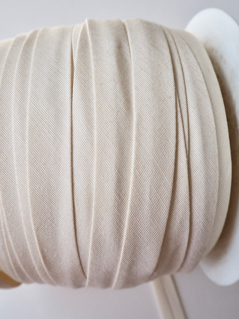Ivory Cotton Faille Bias Binding 14mm