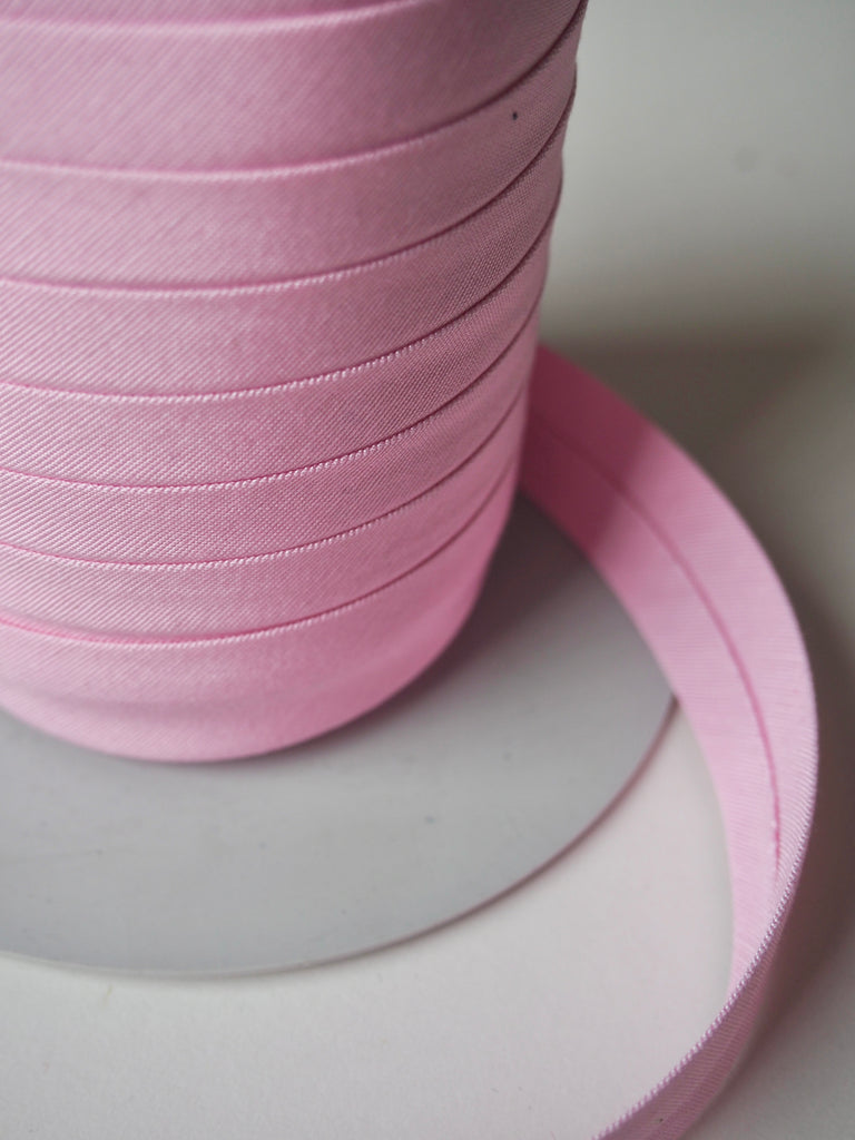 Candy Pink Cotton Faille Wide Bias Binding 20mm