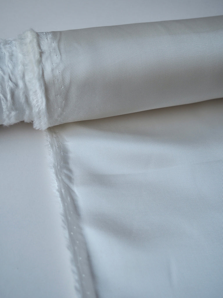 White Heavy Satin Twill Viscose Lining