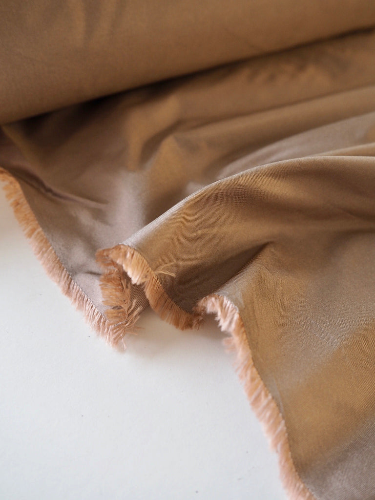 Copper Rose Silk Taffeta
