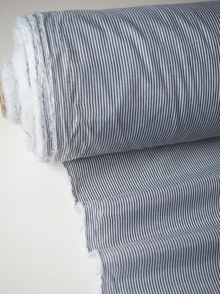 Monochrome Micro Stripe Polycotton