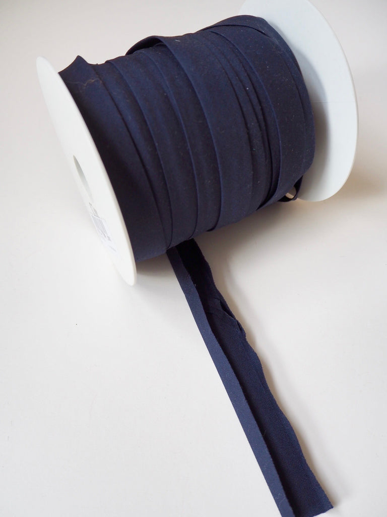 Navy Polycotton Bias Binding 14mm