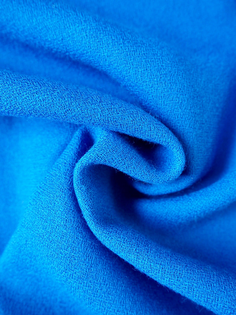Blue Wool Crepe