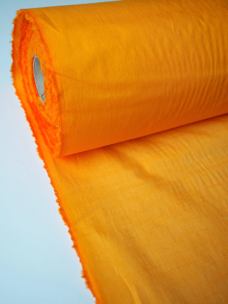 Tangerine Stretch Cotton Poplin
