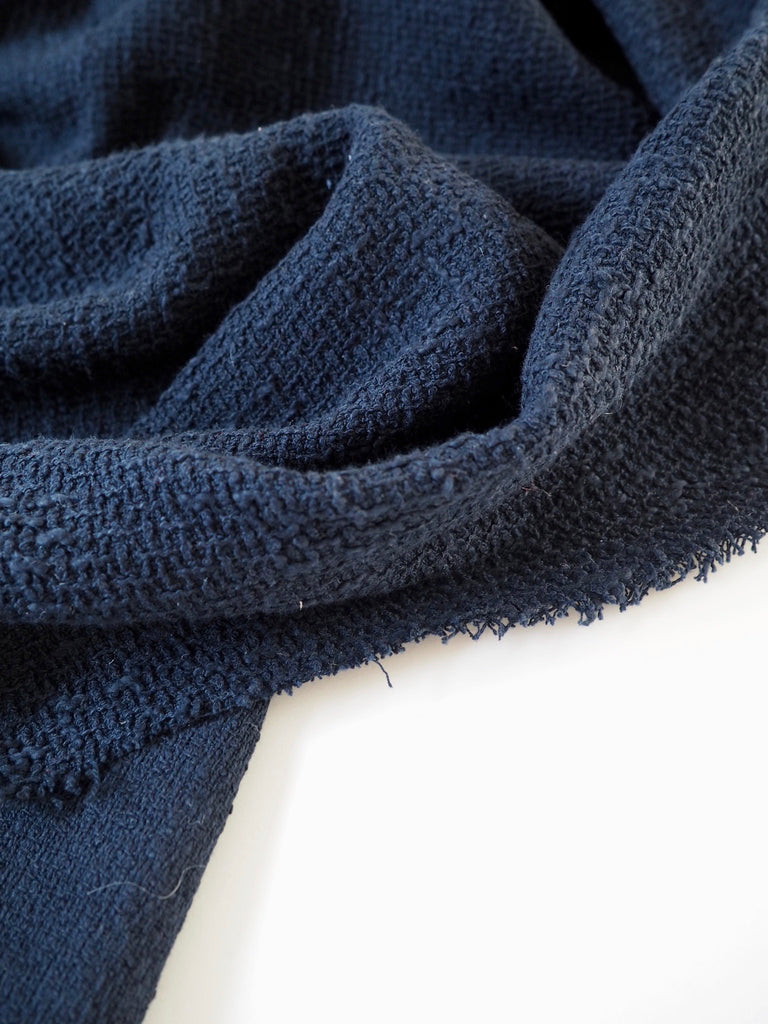 Dark Blue Linton Tweed