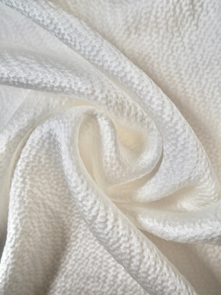 White Hammered Satin Viscose