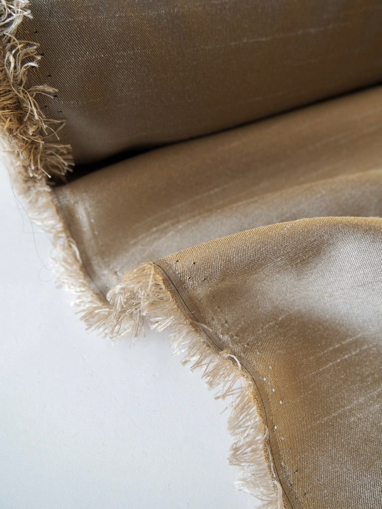 Coffee Raw Taffeta