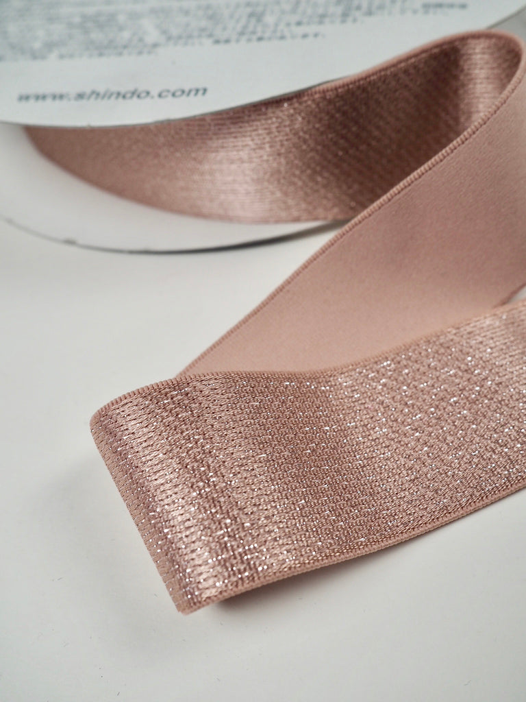 Pink Sparkle Shindo Elastic 40mm