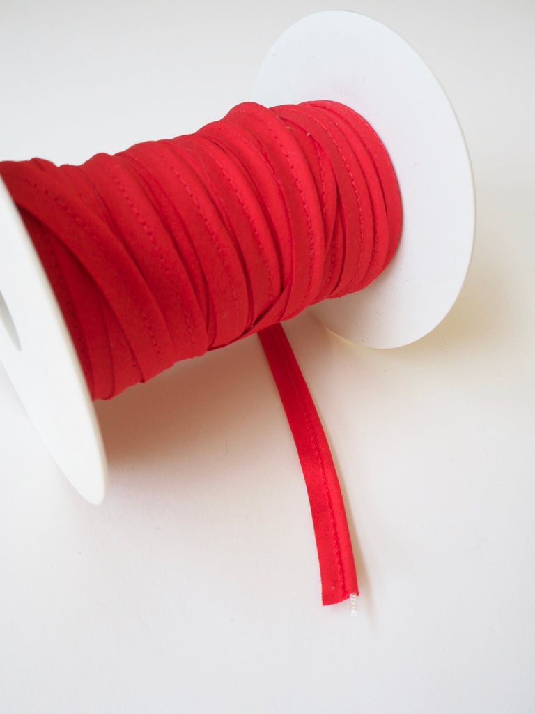 Red Polycotton Bias Piping