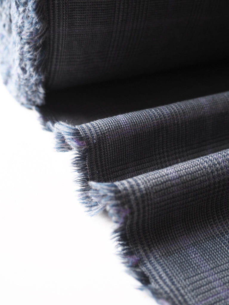 Grey and Purple Check Stretch Suiting