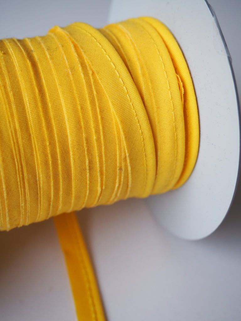 Canary Yellow Polycotton Bias Piping