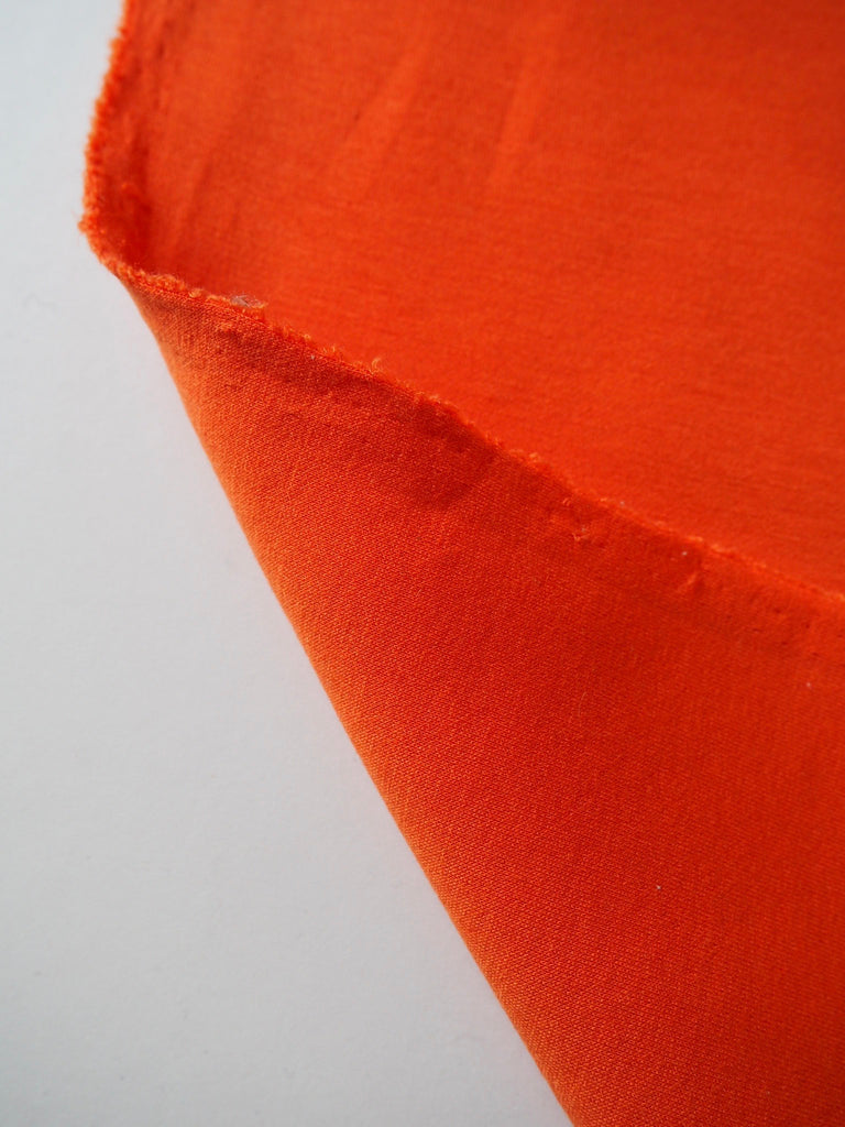 Orange Double Faced Cotton Jersey