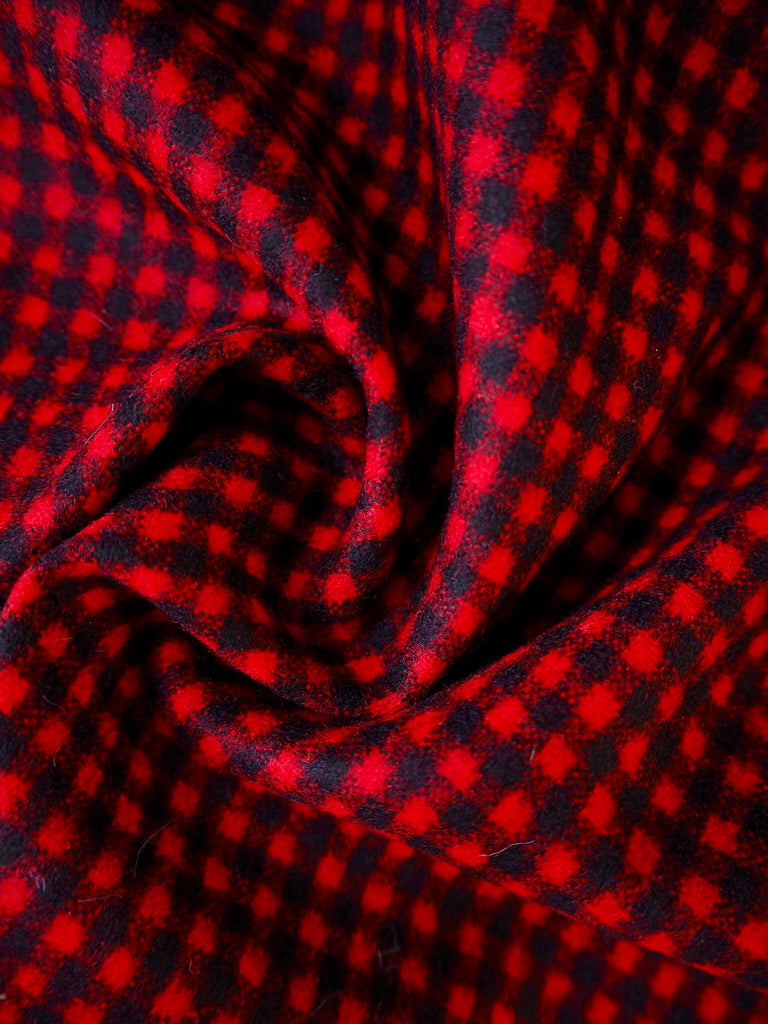 Vienna Red Check Wool