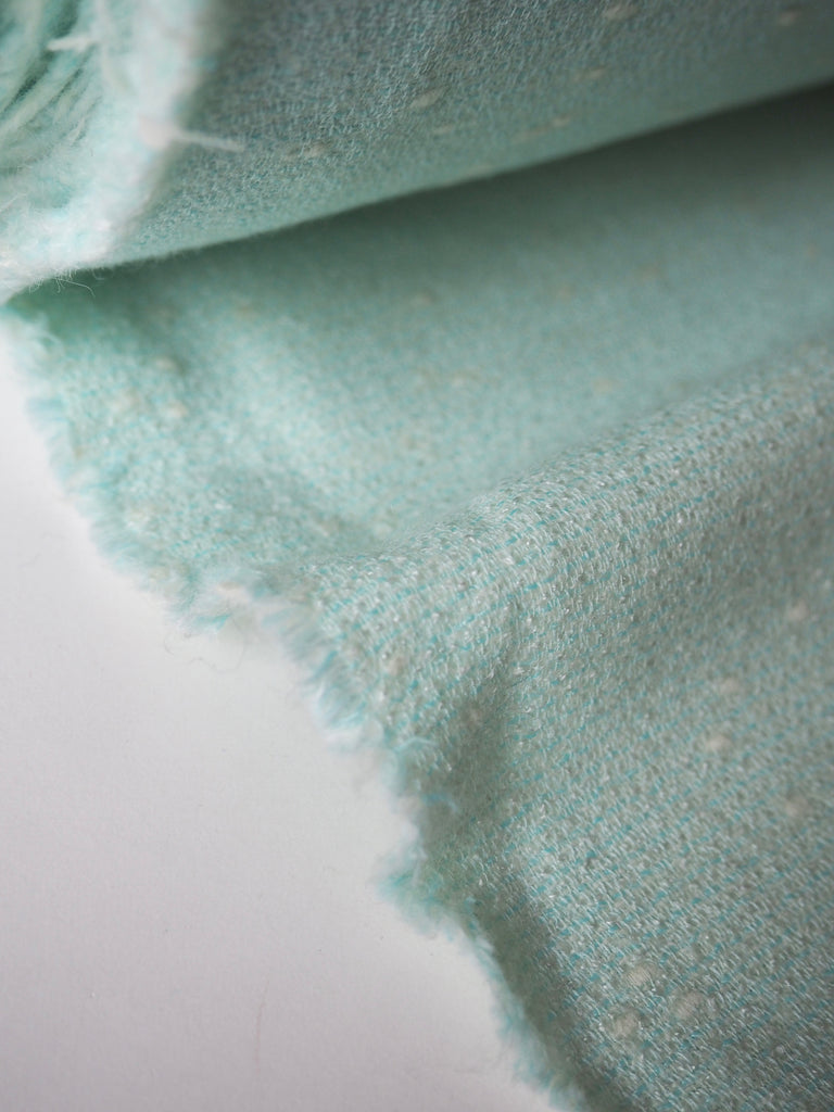 Mint and Cream Flecked Wool