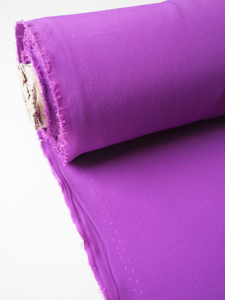 Royal Purple Silk Acetate Crepe De Chine