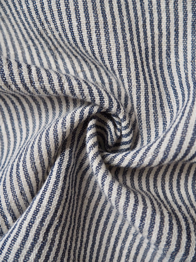 Lazio Blue and White Stripe Linen
