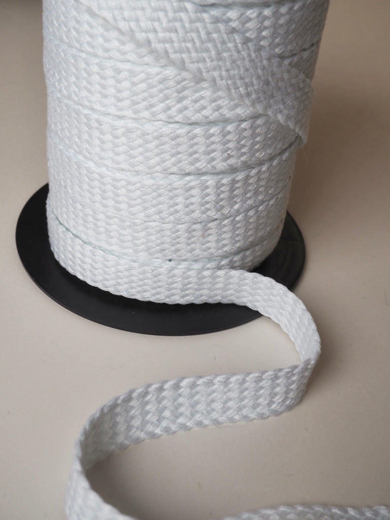 White Braided Cotton Webbing 20mm
