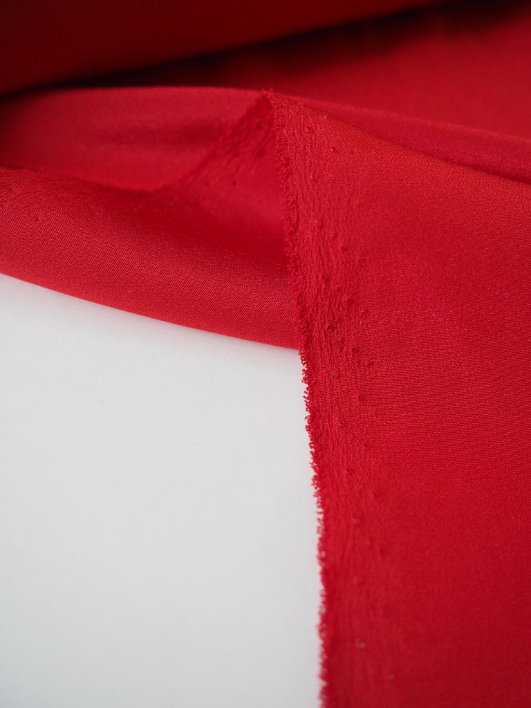 Red Silk Crepe de Chine