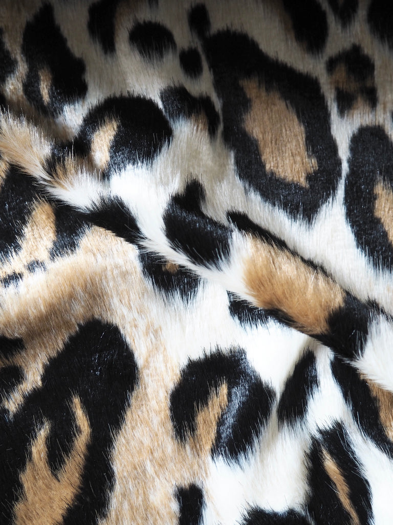 Leopard Print Faux Fur Coating