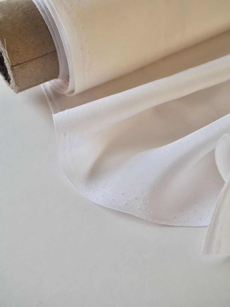 White Silk Crepe de Chine