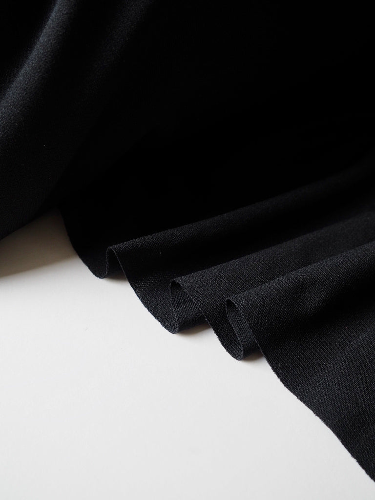 Black Polyester Interlock Jersey
