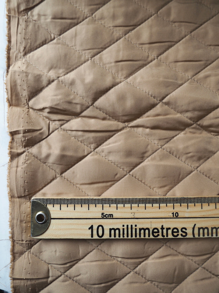 Caramel Quilted Coating
