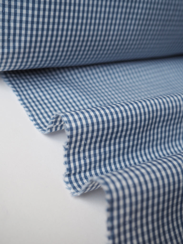 Light Blue Gingham Cotton