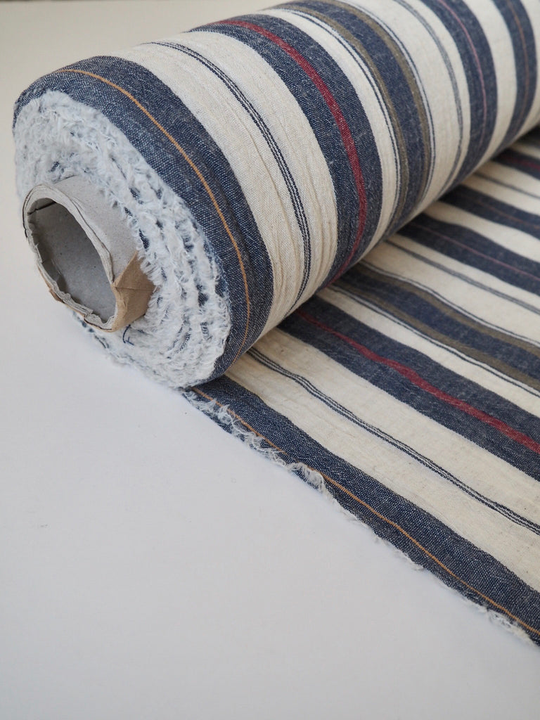 Positano Blue Stripe Cotton