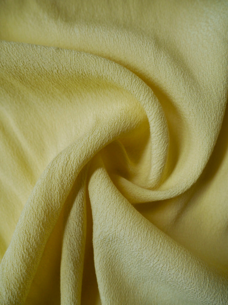 Limone Yellow Viscose Crepe
